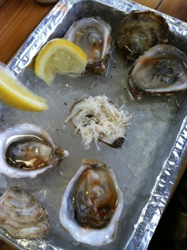 Oyster bar in Jean Talon
