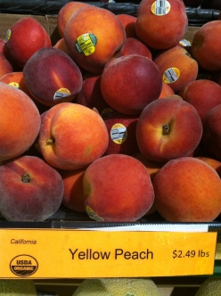 USDA organic peaches